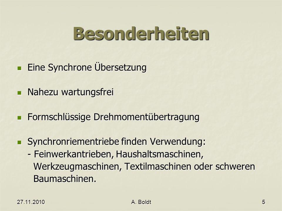 Besonderheiten Eine Synchrone Übersetzung Nahezu wartungsfrei