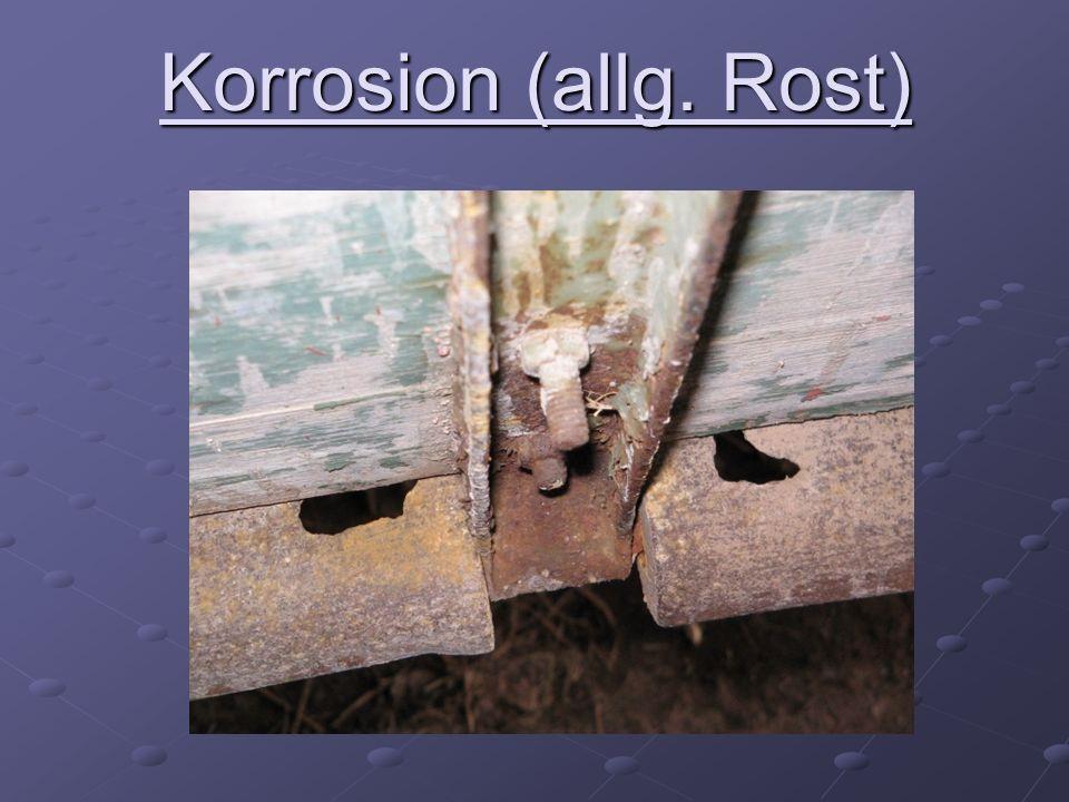 Korrosion (allg. Rost)