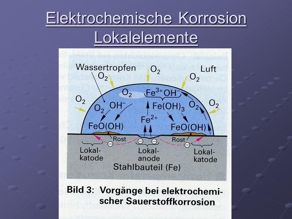 Elektrochemische Korrosion Lokalelemente