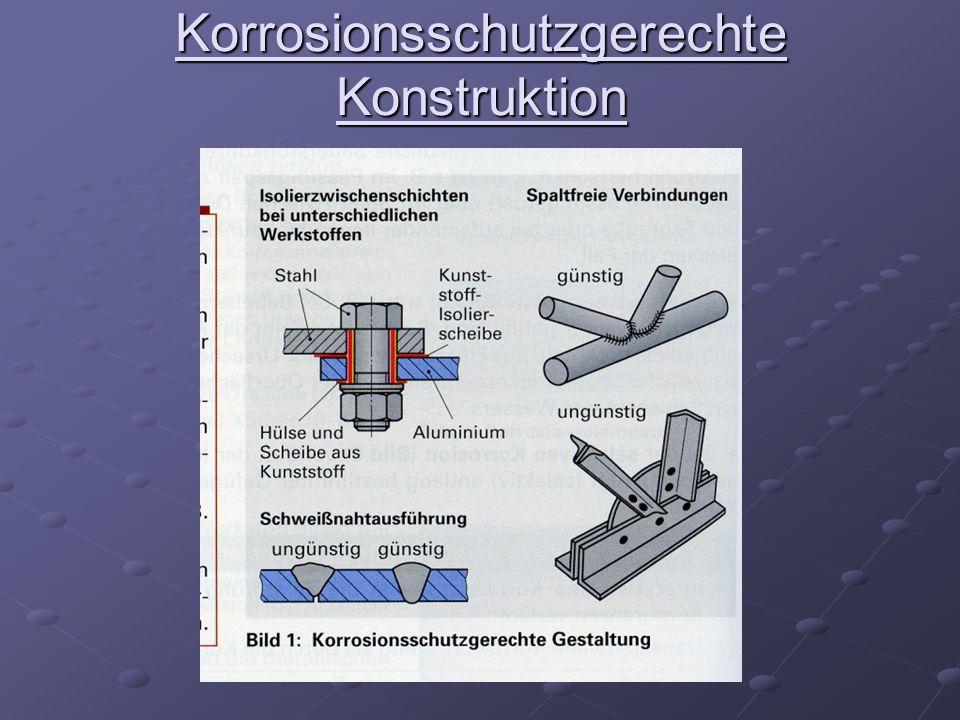 Korrosionsschutzgerechte Konstruktion