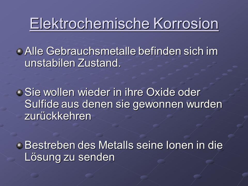 Elektrochemische Korrosion