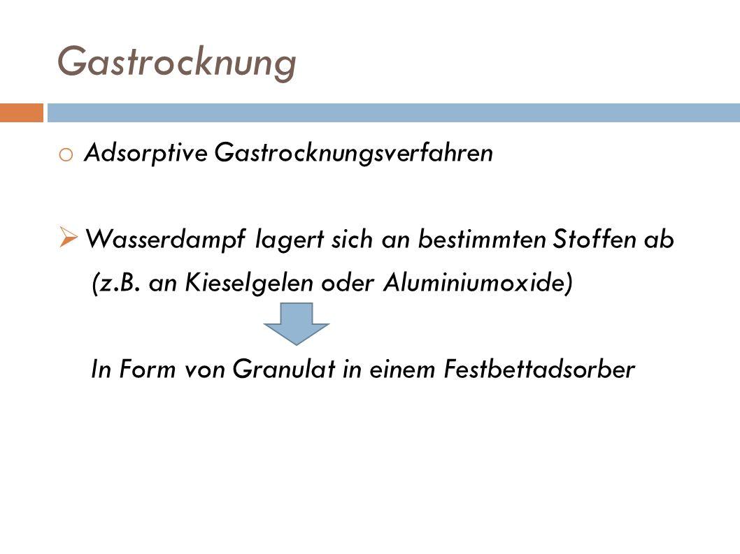 Gastrocknung Adsorptive Gastrocknungsverfahren