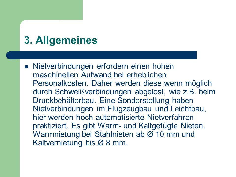 3. Allgemeines