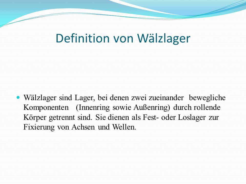 Definition von Wälzlager