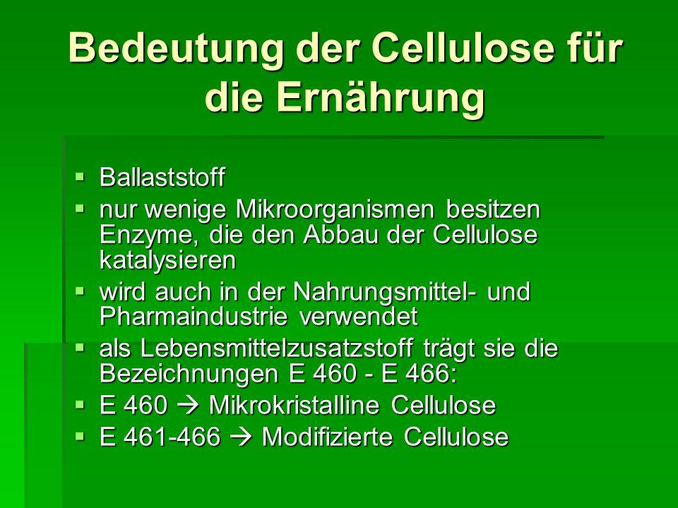 Bedeutung der Cellulose für die Ernährung