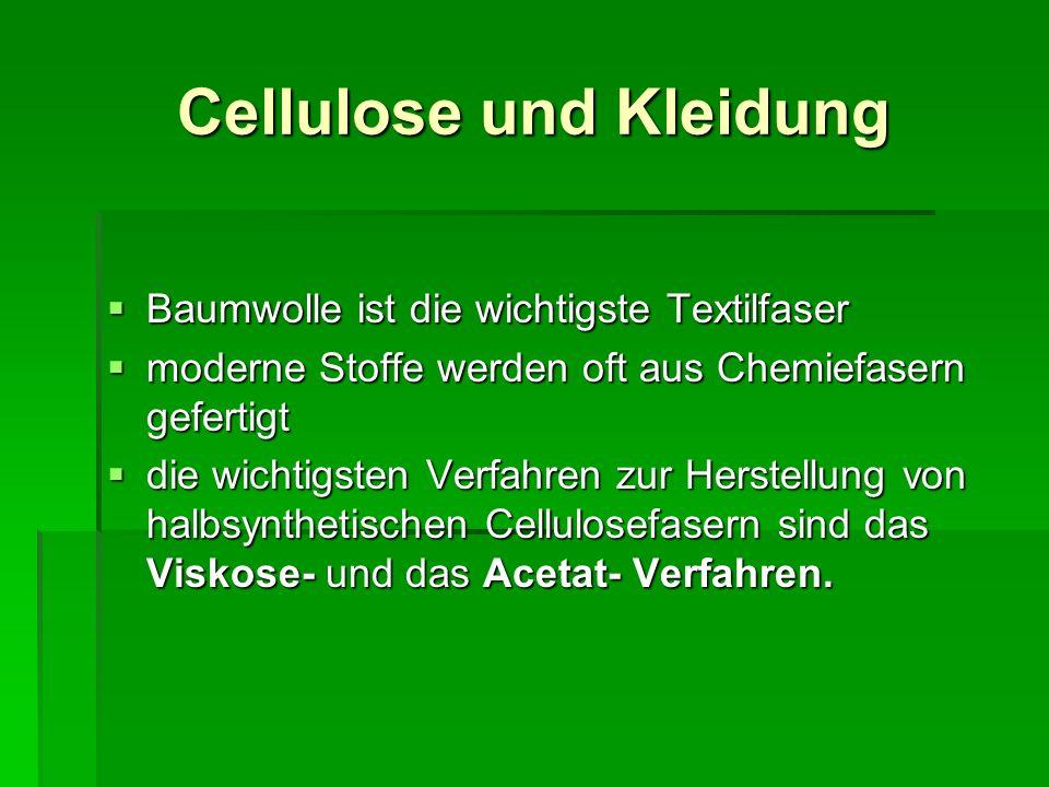 Cellulose und Kleidung