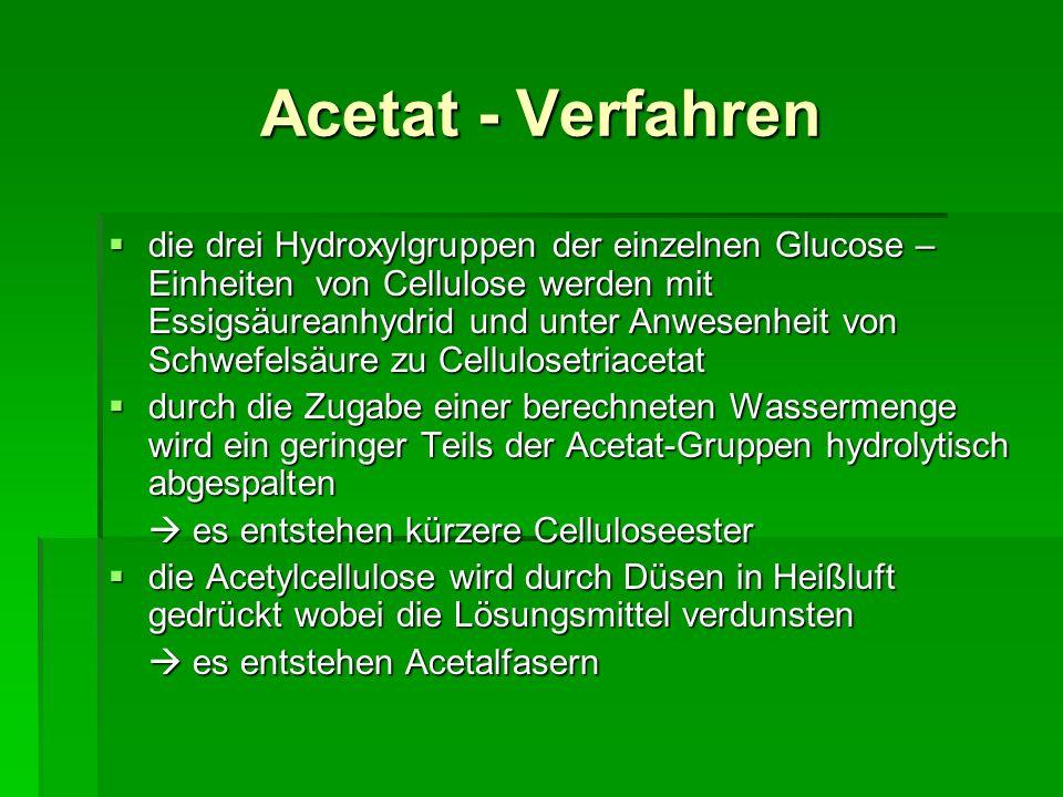 Acetat - Verfahren