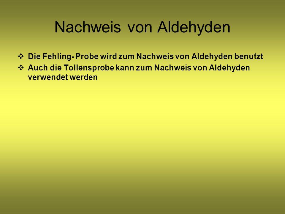 Nachweis von Aldehyden