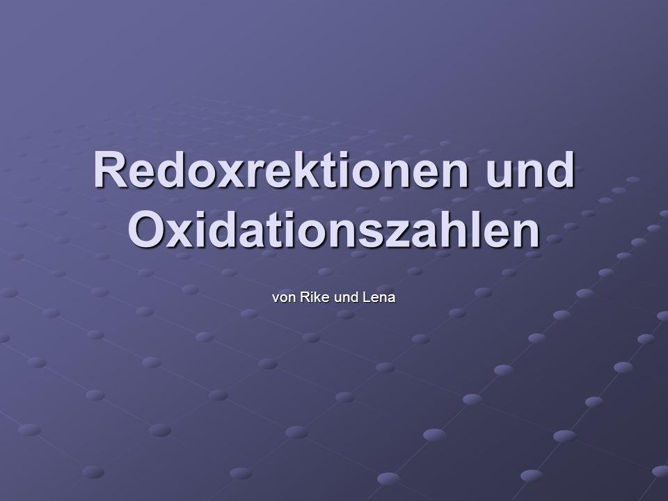 Redoxrektionen und Oxidationszahlen