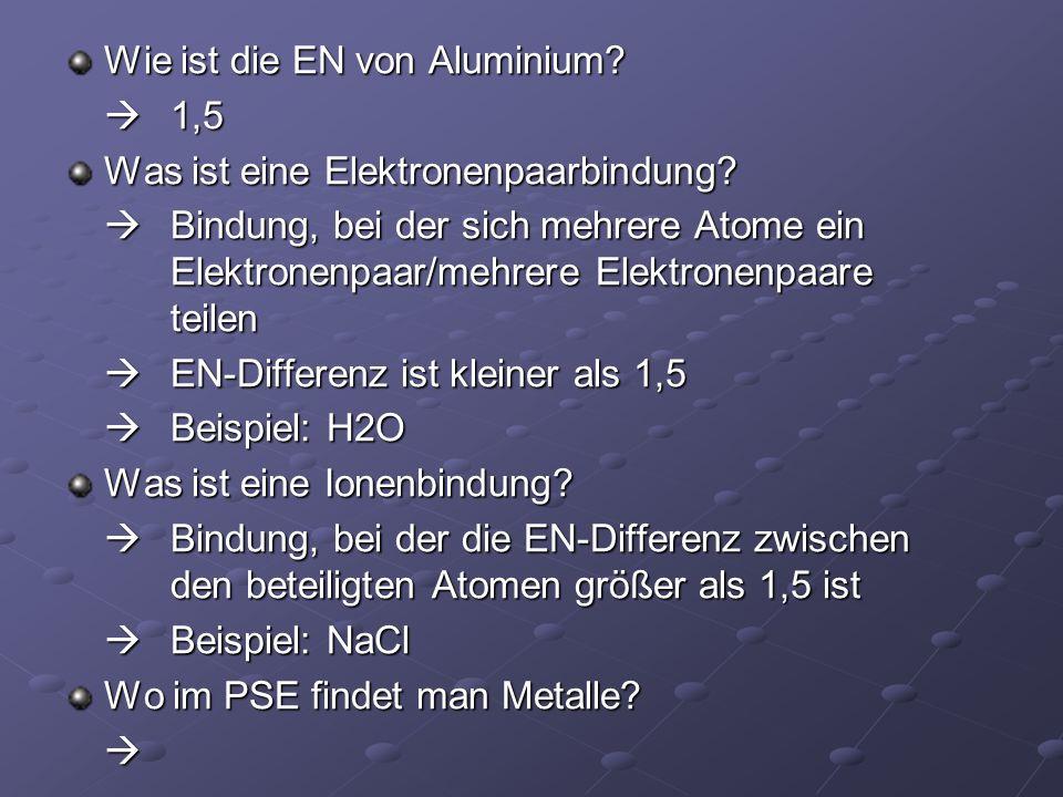 Wie ist die EN von Aluminium