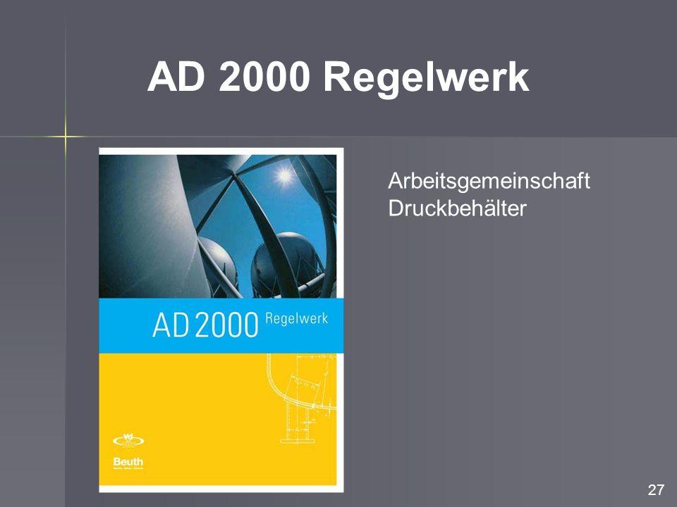 AD 2000 Regelwerk Arbeitsgemeinschaft Druckbehälter 27