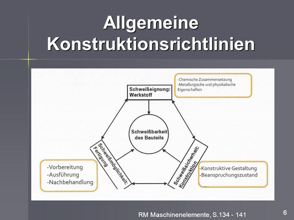 Allgemeine Konstruktionsrichtlinien