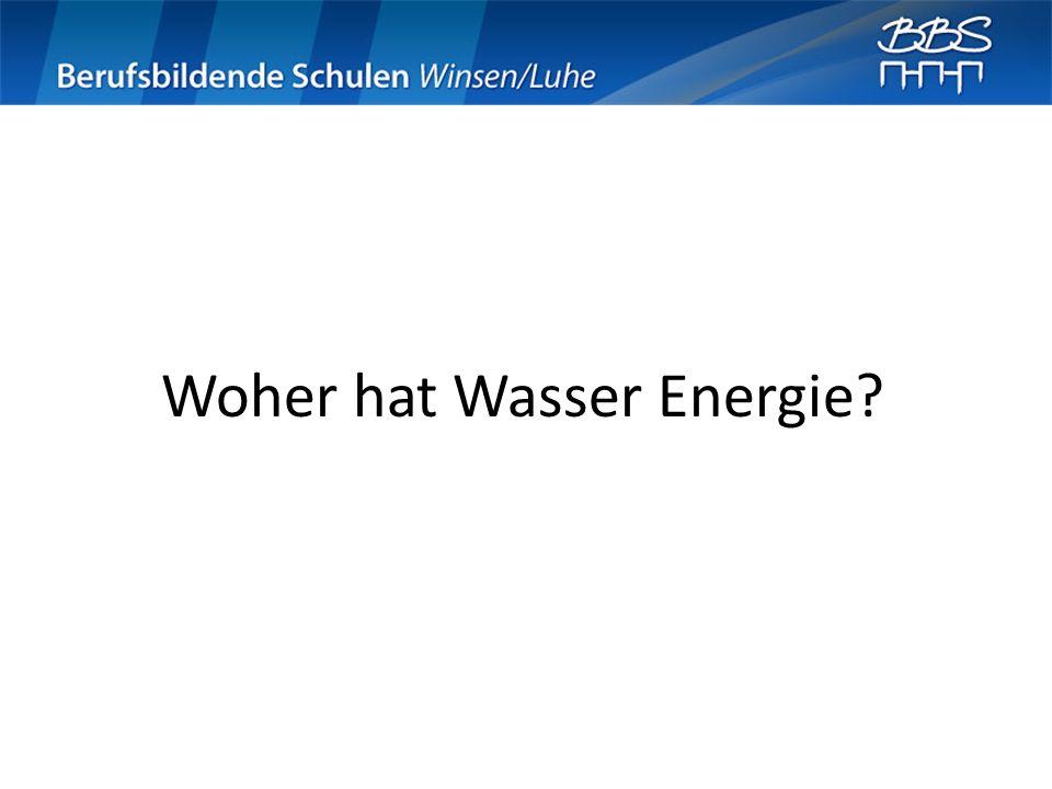 Woher hat Wasser Energie