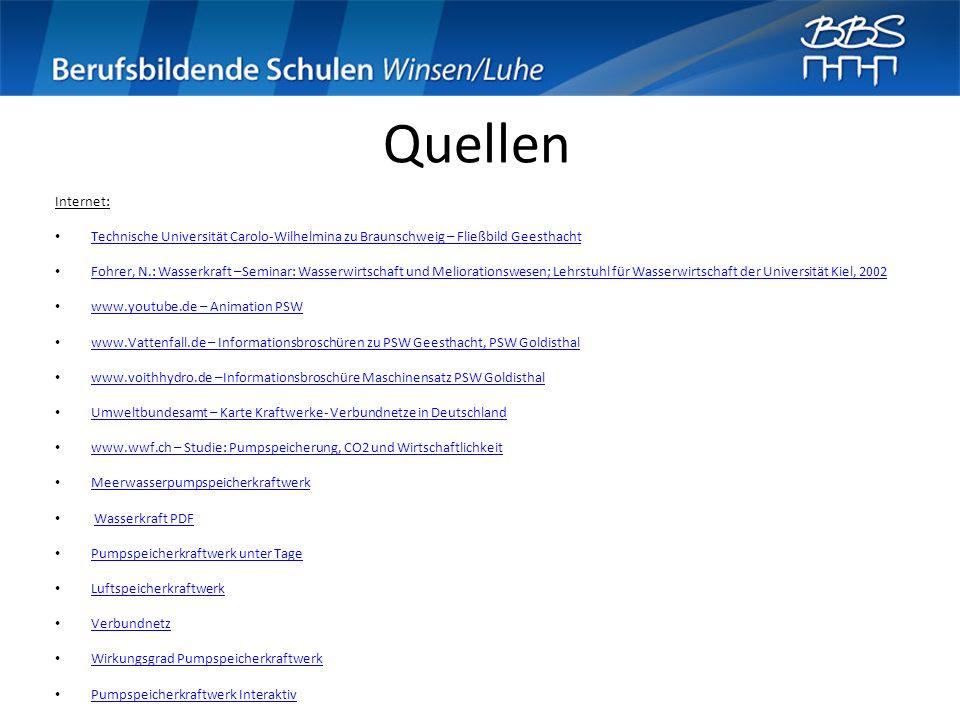Quellen Internet: Technische Universität Carolo-Wilhelmina zu Braunschweig – Fließbild Geesthacht.