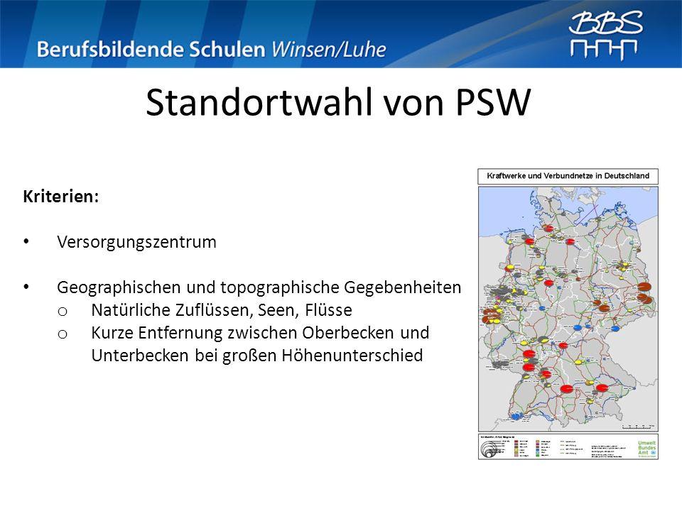 Standortwahl von PSW Kriterien: Versorgungszentrum