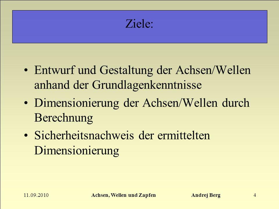 Achsen, Wellen und Zapfen Andrej Berg