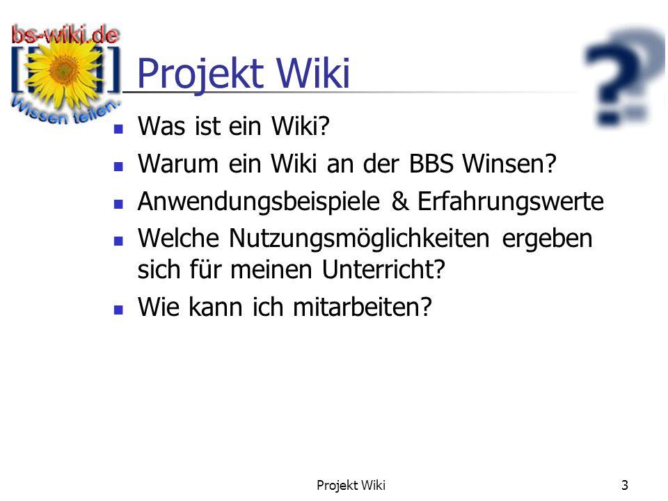 Gliederung Was ist ein Wiki Warum ein Wiki an der BBS Winsen