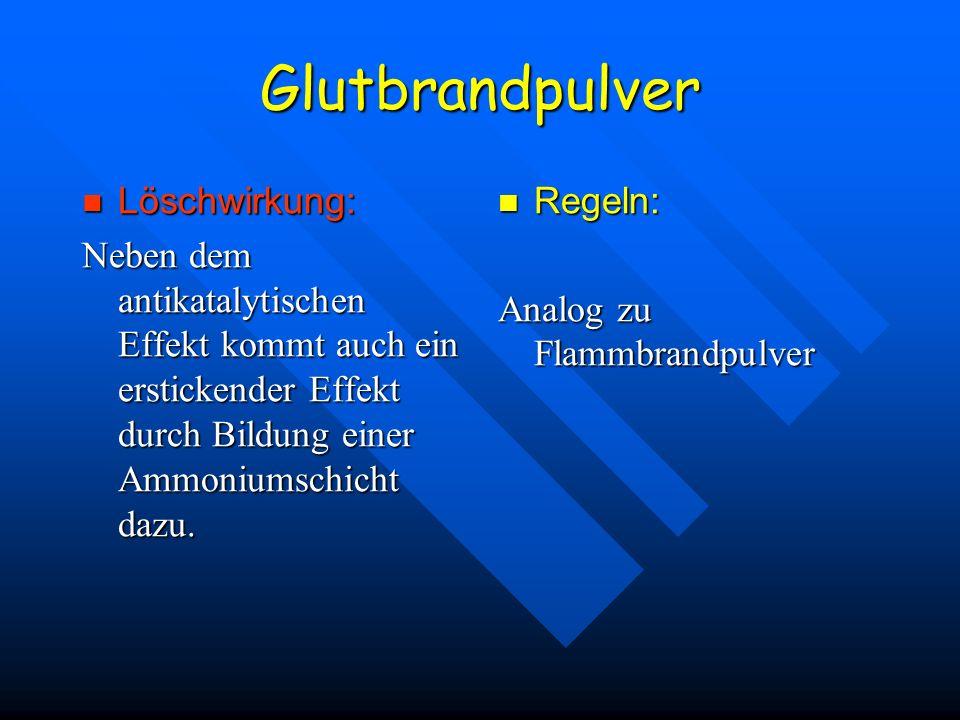 Glutbrandpulver Löschwirkung: