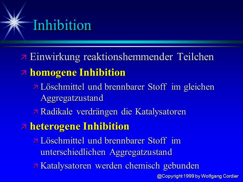 Inhibition Einwirkung reaktionshemmender Teilchen homogene Inhibition