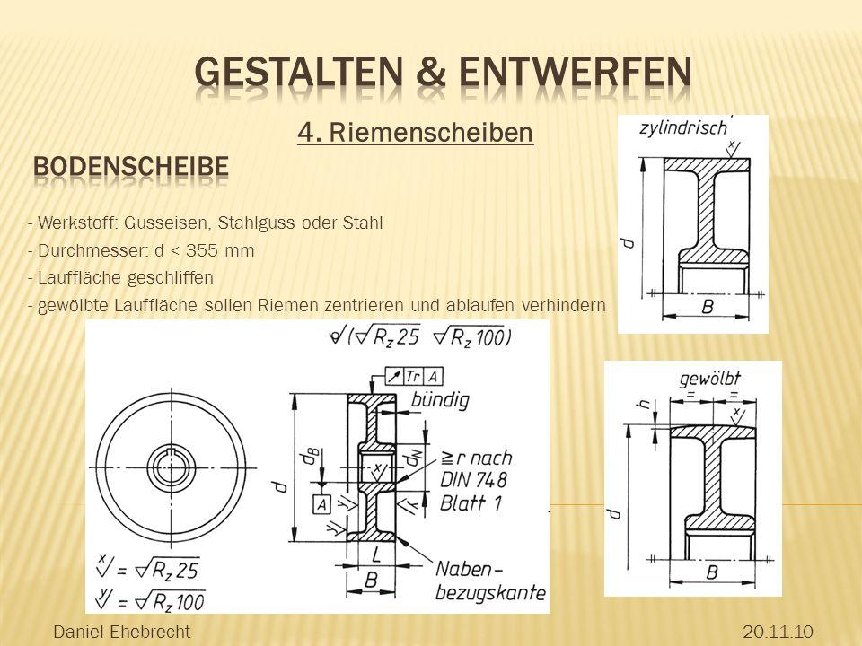 Gestalten & Entwerfen 4. Riemenscheiben Bodenscheibe