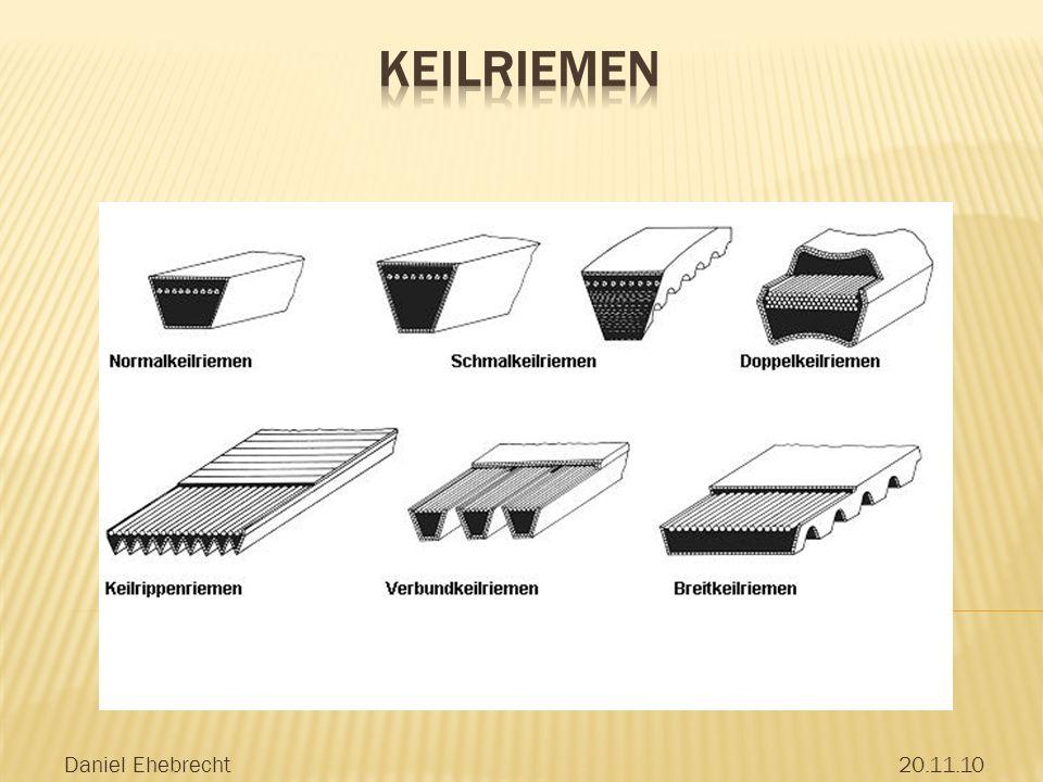 Keilriemen Daniel Ehebrecht 20.11.10 trapezförmige Querschnittsform