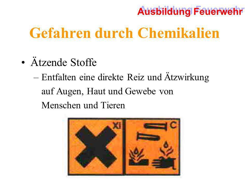 Gefahren durch Chemikalien