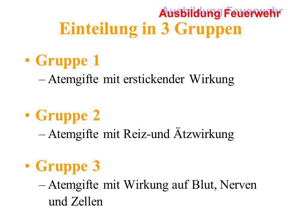 Einteilung in 3 Gruppen Gruppe 1 Gruppe 2 Gruppe 3