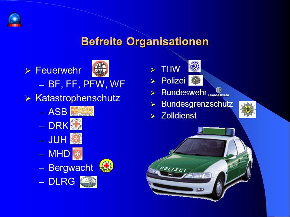 Befreite Organisationen