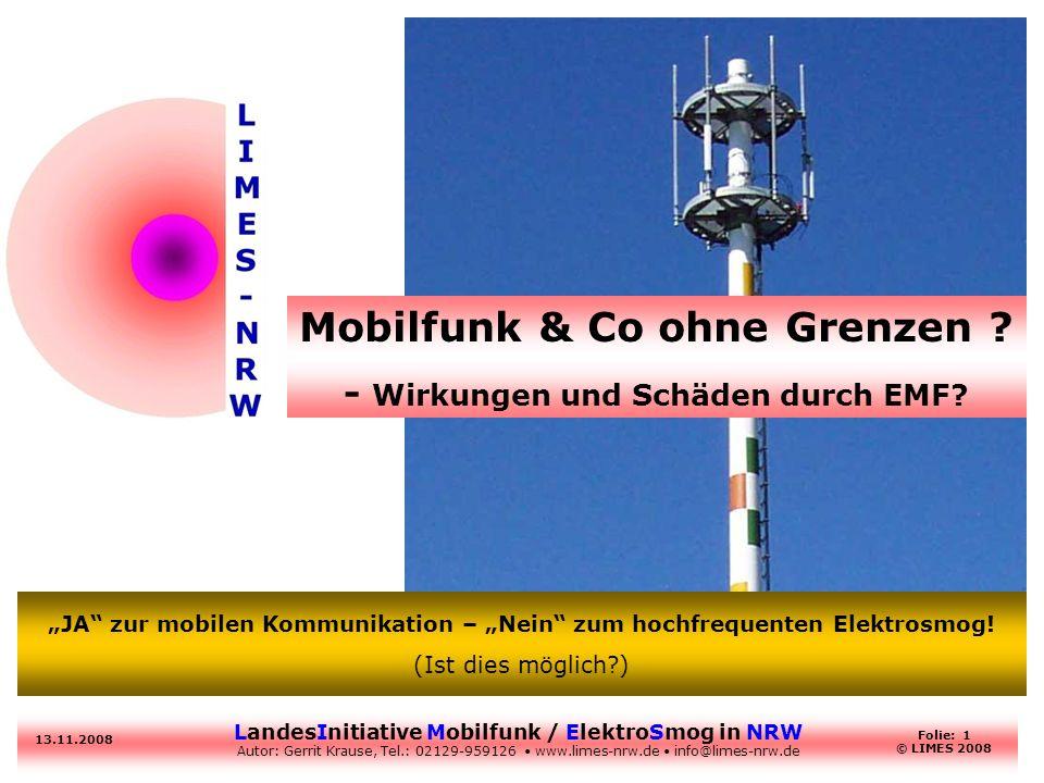 Mobilfunk & Co ohne Grenzen - Wirkungen und Schäden durch EMF