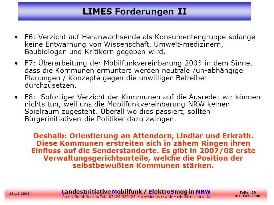 LIMES Forderungen II