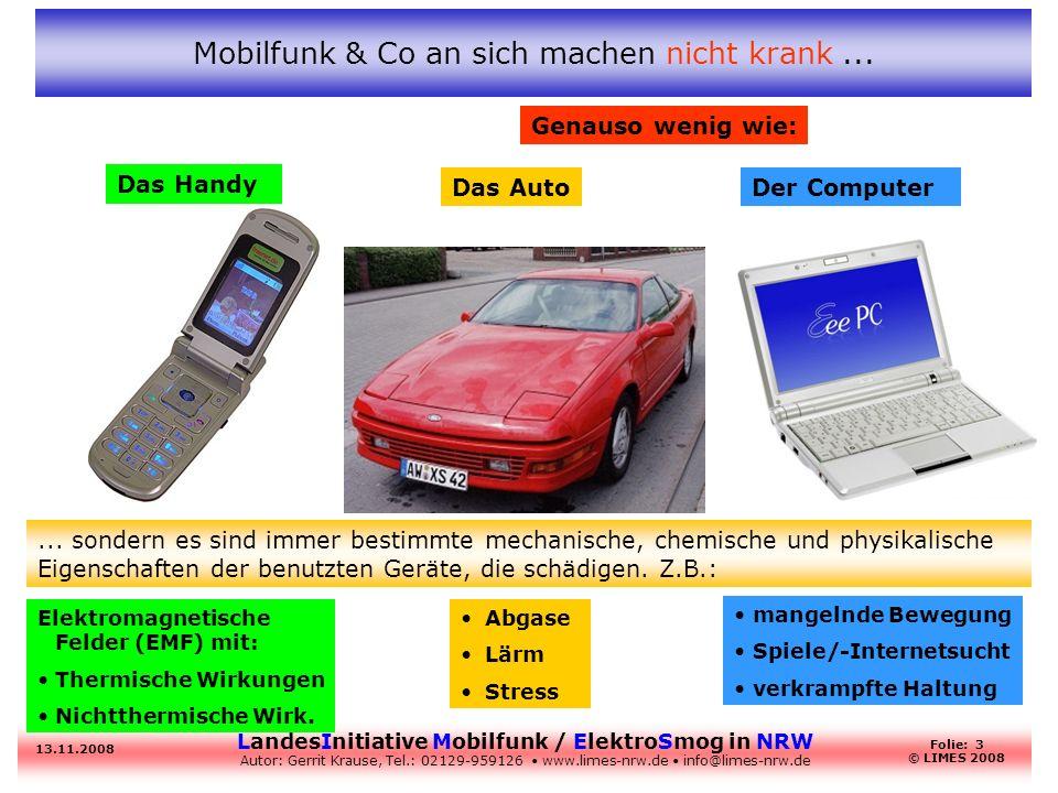 Mobilfunk & Co an sich machen nicht krank ...