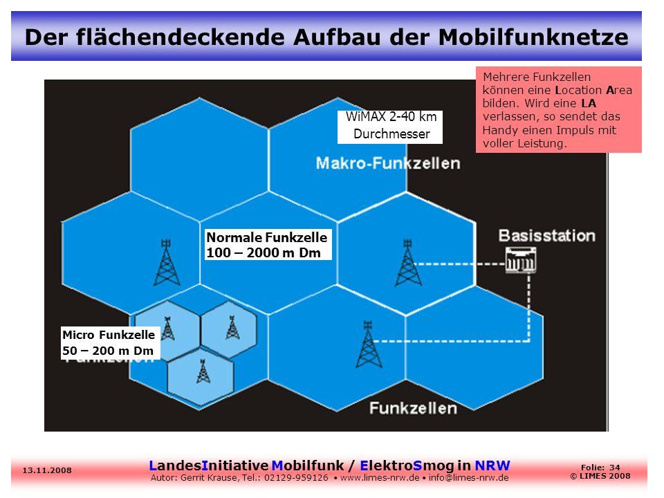 Der flächendeckende Aufbau der Mobilfunknetze