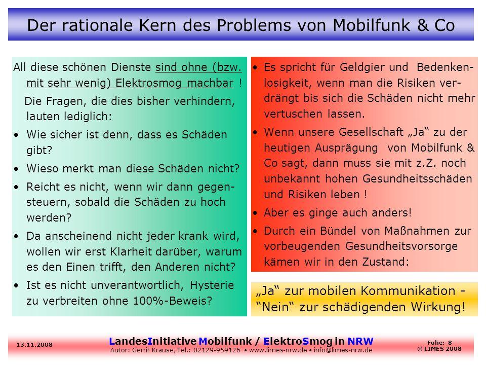 Der rationale Kern des Problems von Mobilfunk & Co