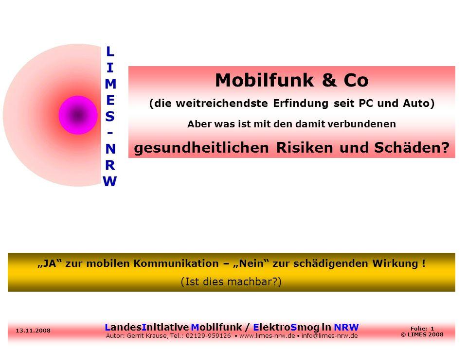 Mobilfunk & Co gesundheitlichen Risiken und Schäden
