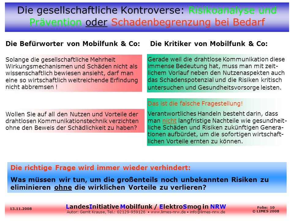 Die gesellschaftliche Kontroverse: Risikoanalyse und Prävention oder Schadenbegrenzung bei Bedarf