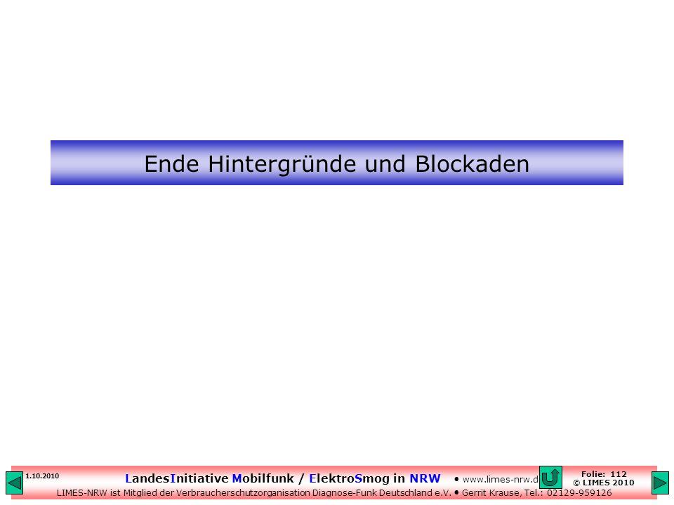 Ende Hintergründe und Blockaden