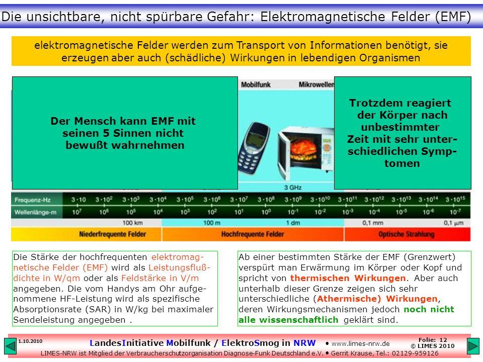 Die unsichtbare, nicht spürbare Gefahr: Elektromagnetische Felder (EMF)