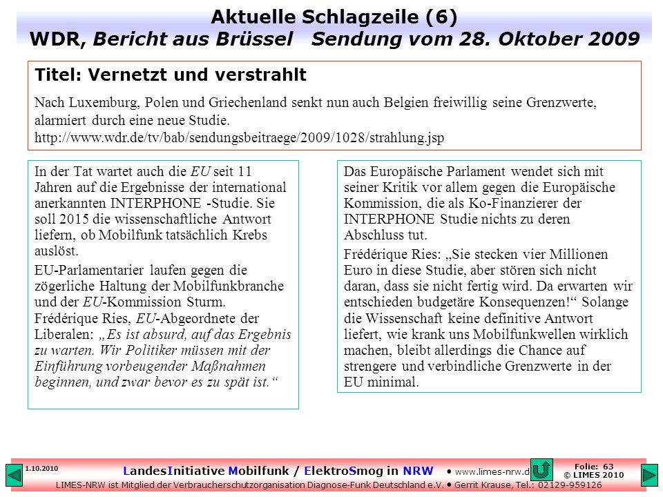 Aktuelle Schlagzeile (6) WDR, Bericht aus Brüssel Sendung vom 28
