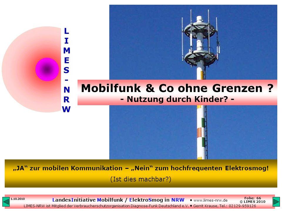 Mobilfunk & Co ohne Grenzen - Nutzung durch Kinder -