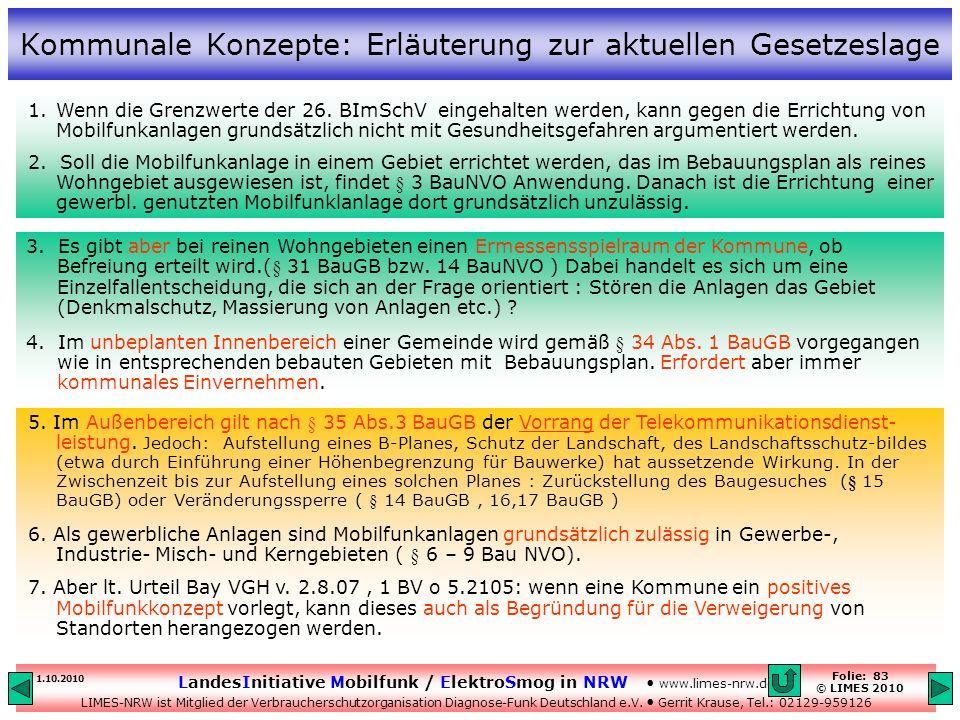 Kommunale Konzepte: Erläuterung zur aktuellen Gesetzeslage