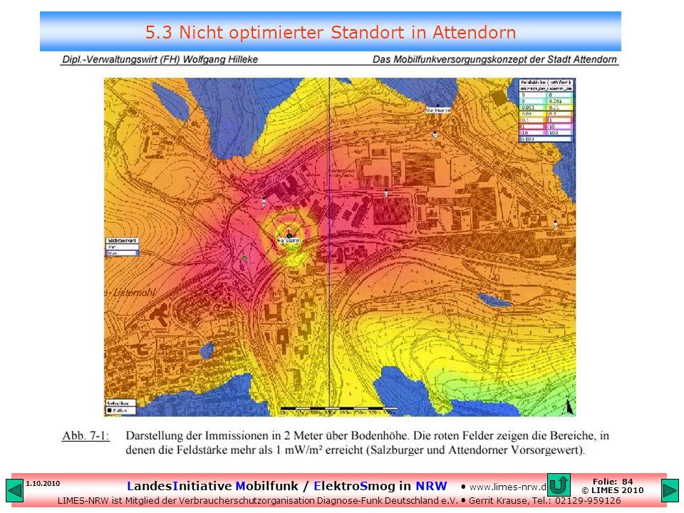 5.3 Nicht optimierter Standort in Attendorn