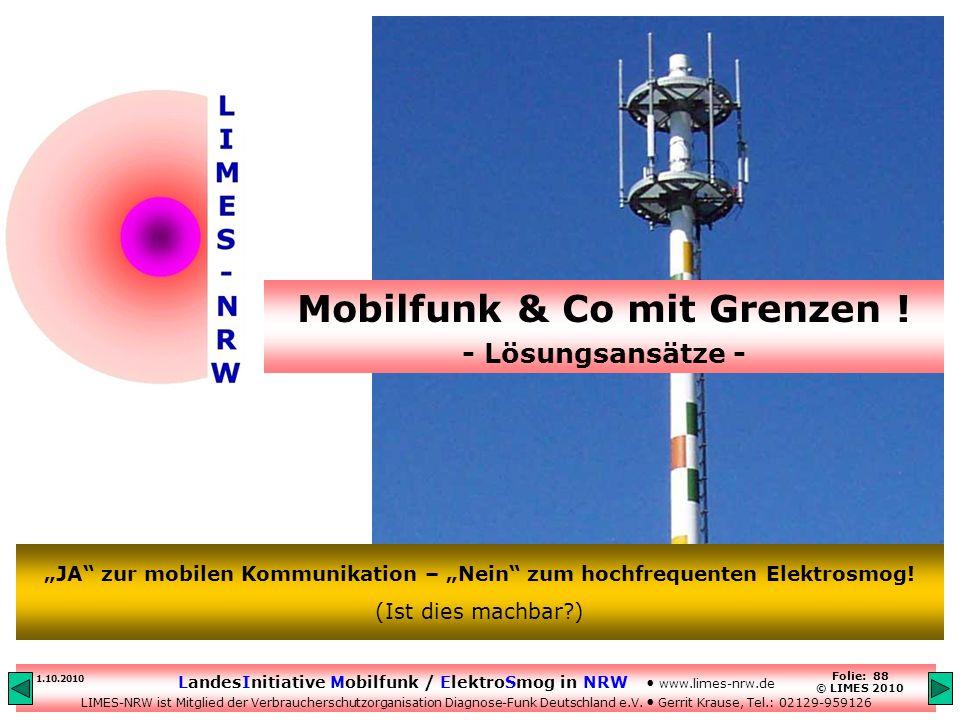 Mobilfunk & Co mit Grenzen !