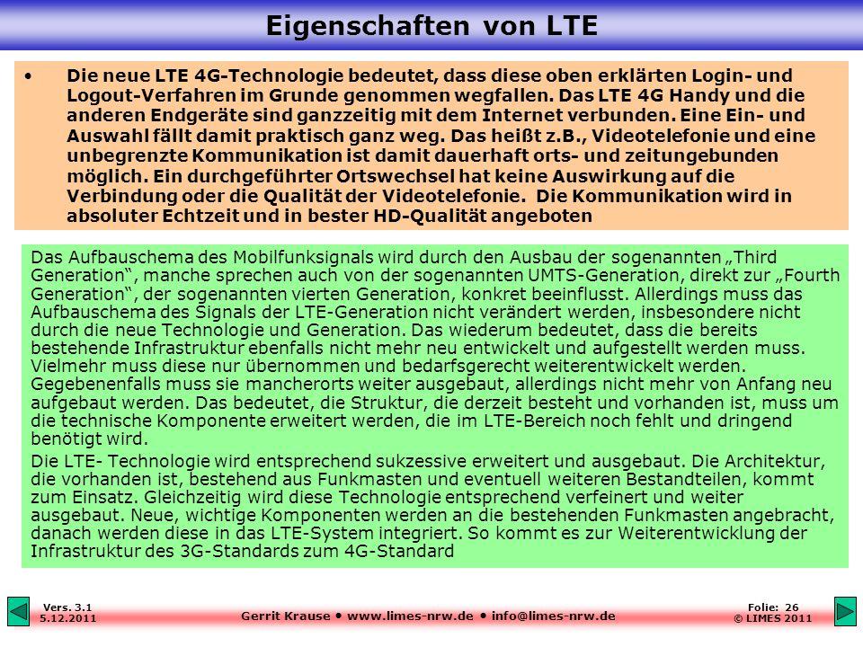 Eigenschaften von LTE
