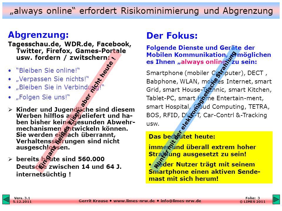 """""""always online erfordert Risikominimierung und Abgrenzung"""