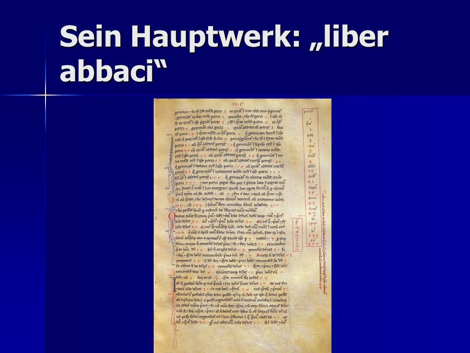 "Sein Hauptwerk: ""liber abbaci"