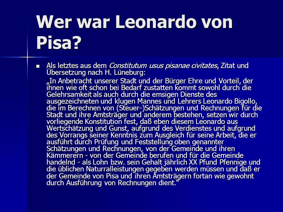 Wer war Leonardo von Pisa