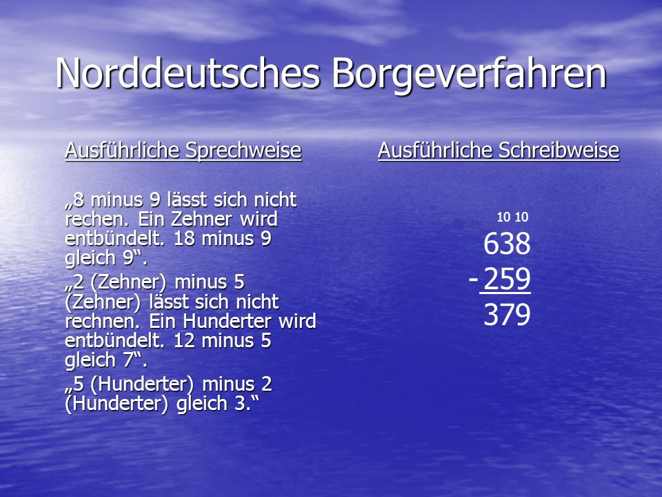 Norddeutsches Borgeverfahren