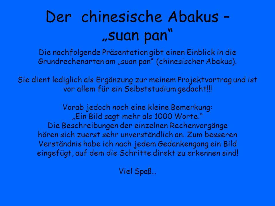 """Der chinesische Abakus – """"suan pan"""