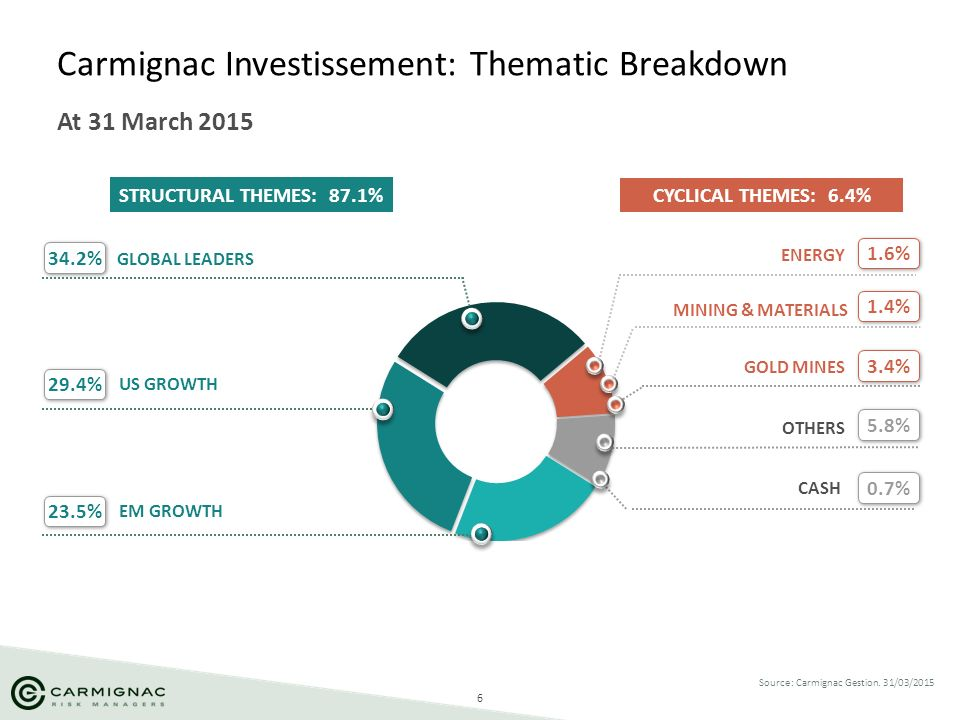 Carmignac Investissement: Thematic Breakdown
