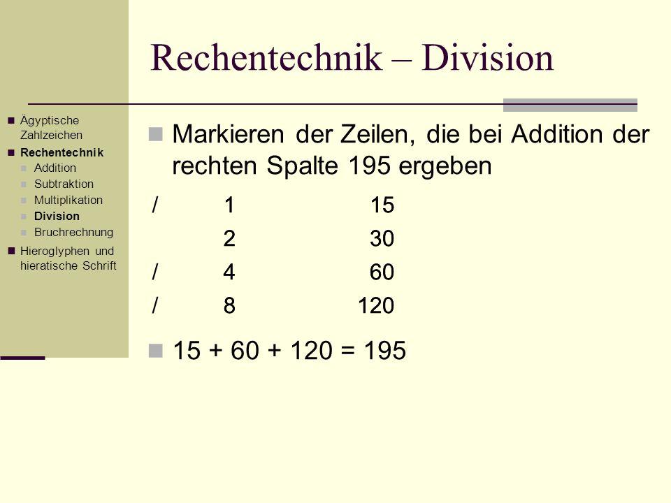 Rechentechnik – Division